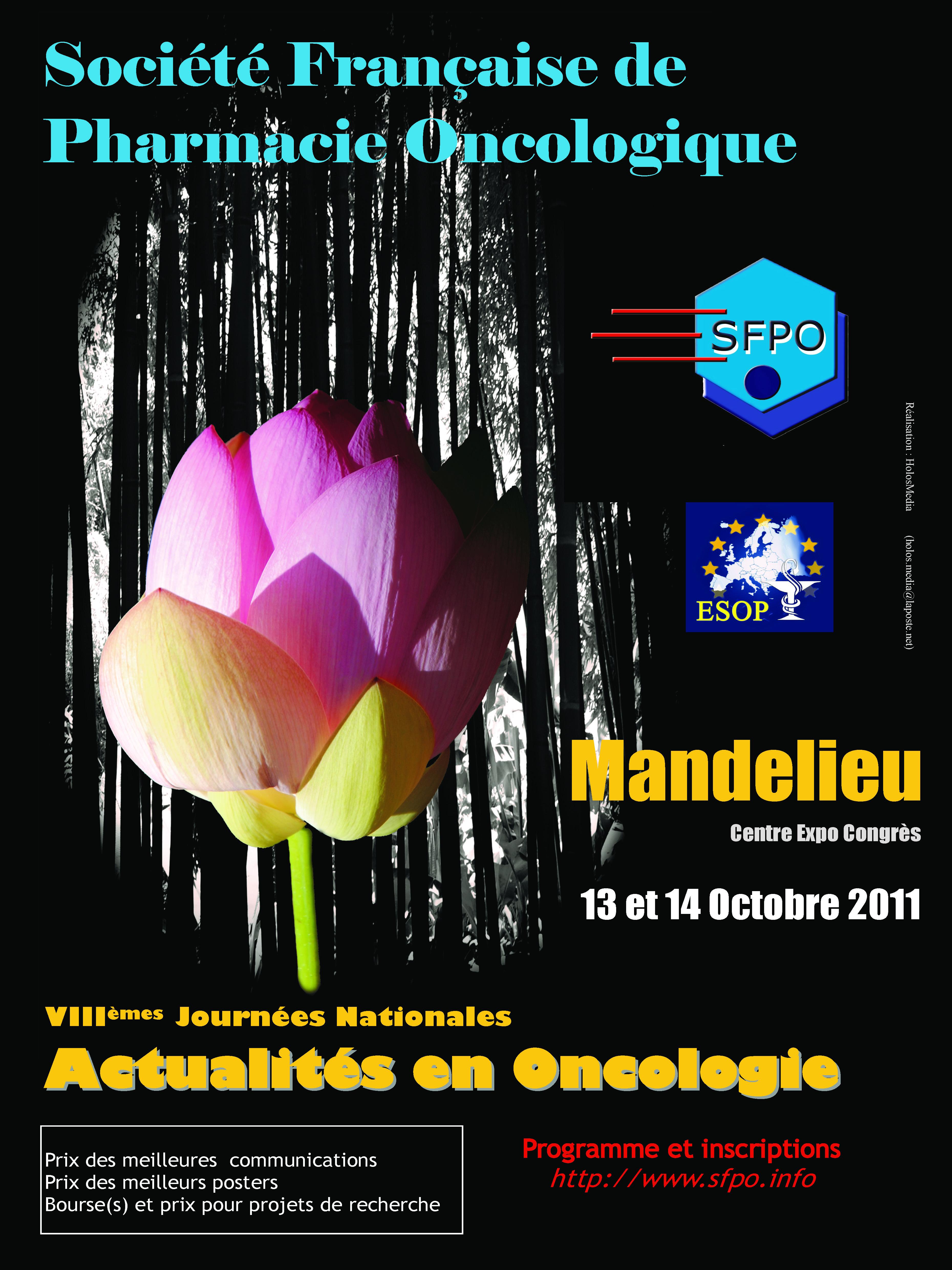 VIIIèmes Journées Nationales Actualités en Oncologie 2011