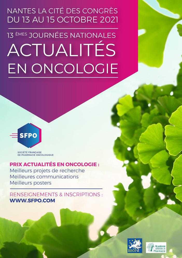 13èmes Journées Nationales Actualités en Oncologie – Nantes 2021